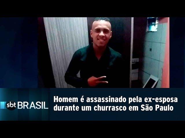 Homem é assassinado pela ex-esposa durante um churrasco em São Paulo | SBT Brasil (11/03/19)