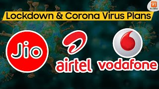 Jio vs Airtel vs Vodafone Double Data Plans - Corona Virus & Lockdown Plans