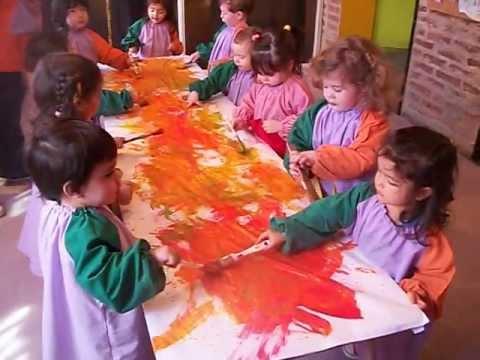 Ni os pintando al ritmo de la m sica grupo b youtube for Imagenes de estanques para ninos