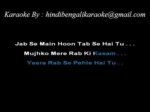 Jaane dil mein duet karaoke music (mujhse dosti karogi ) youtube.
