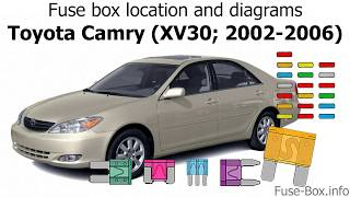 Fuse Box Location And Diagrams Toyota Camry Xv30 2002 2006 Youtube
