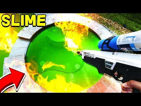 FLAMETHROWER vs 100 POUNDS OF SLIME!