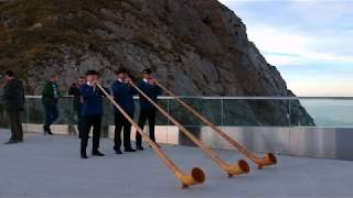 Alphorn Trio Drueklang on MT Pilatus