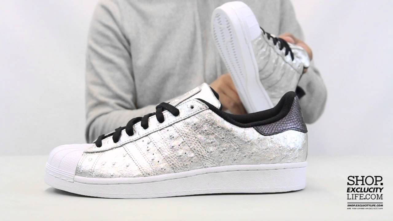 Adidas Superstar Foundation Metallic Silver Unboxing Video at Exclucity