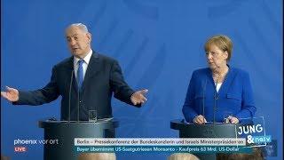 Naive Fragen an Israels Premierminister Netanjahu & Merkel im Kanzleramt