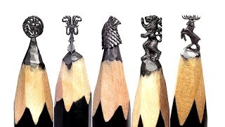 Amazing and Incredible Art on Pencil , Pencil Carving , Carving Iron Throne ,Carving Eiffel tower