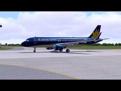 Xplane 10, Airbus 320, T.O., Ho Chi Minh City, Realtime weather, Ventrua Sky, Skymax