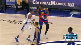 kevin durant loses shoe continues playing
