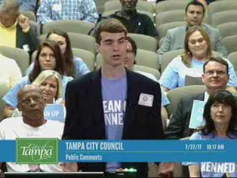 Joe Manson Addresses Tampa City Council July 27