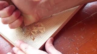 Геометрическая резьба по дереву. Урок 17 (geometric wood carving)
