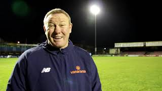 York City 2-1 Chester | Steve Watson Post-Match