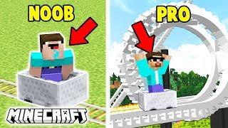 KOLEJKA GÓRSKA NOOB VS KOLEJKA GÓRSKA PRO - Minecraft Animacja