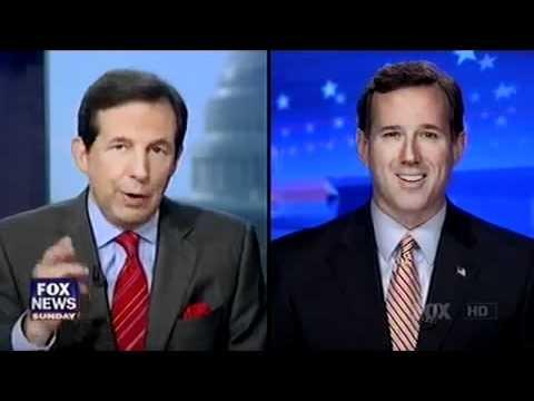 Rick Santorum on Fox News Confronted about Stephen Hill