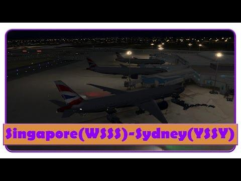[FSX] BAW15| Part 2 | Singapore-Sydney | Group flight | PMDG 777 |