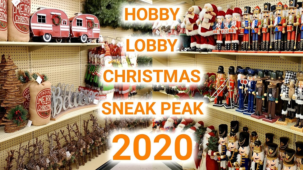 Whats Is New In Hobby Lobby For Christmas 2020? HOBBY LOBBY CHRISTMAS DECOR 2020 | SHOP WITH ME | SNEAK PEAK