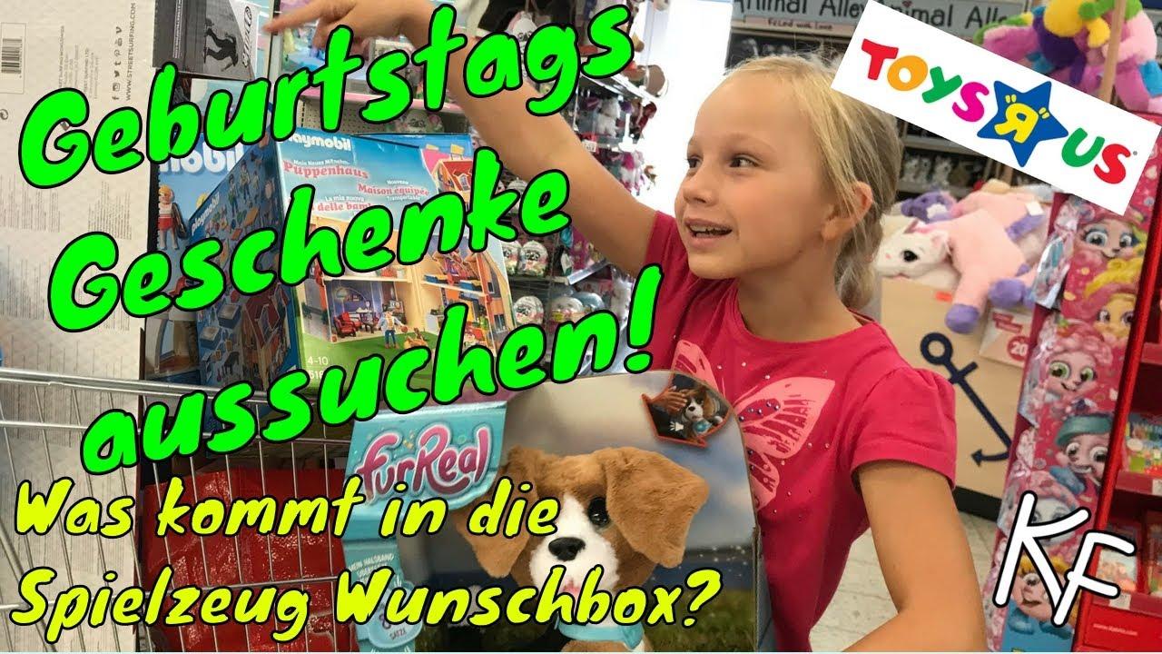 Geburtstag GESCHENKE aussuchen ⭐ Isi füllt SPIELZEUG Wunschbox im ...
