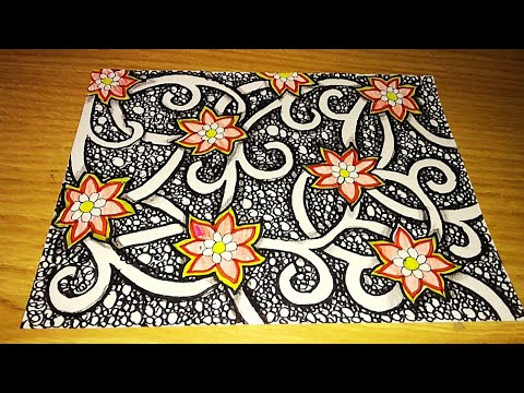 Cara Membuat Batik Pola Bunga Mudah Banget