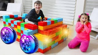 Ali made Color Block Toy Car Fun Kid Video