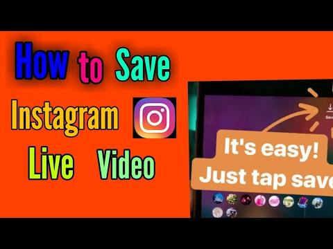 save instagram live video