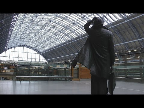 London St Pancras King's Cross & Paddington Railway Stations 9th & 13th January 2013 John Betjeman