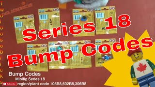 LEGO Minifig Series 18 Bump Codes