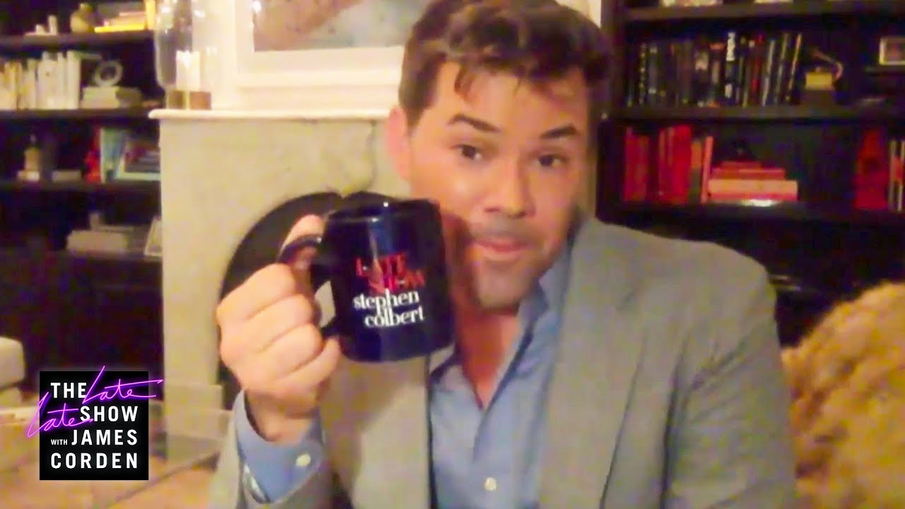 Andrew Rannells Is Loyal to the Colbert Mug