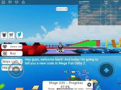 Roblox Mega Fun Obby 2 Stage 155 165 Youtube