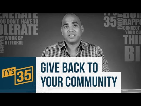 13/35: Giving Back To Your Community