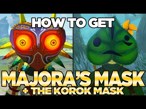 How to Get Majora's Mask & The Korok Mask in Breath of the Wild Expansion Pass | Austin John Plays