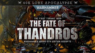 Astra Militarum vs Tyranids Warhammer 40K 9th Edition Apocalypse 6000pts THE FATE OF THANDROS!