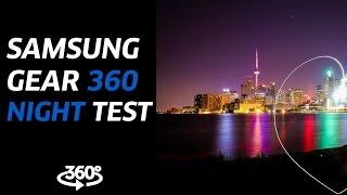 samsung gear 360 4k video night test