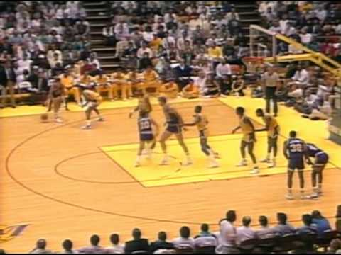 John Stockton (23pts/24asts - playoffs record/5stls) vs. Lakers (1988)
