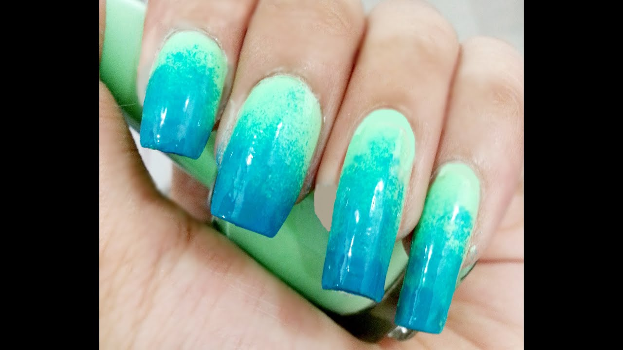 Standard Neon - Ombre Nails - YouTube