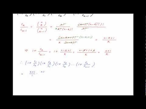 Find the value of (1+c1/c0)(1+c2/c1)(1+c3/c2) ... (1+cn/cn-1).