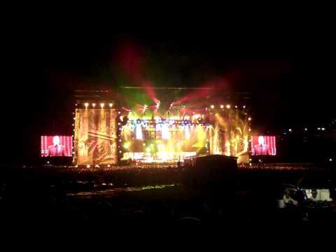 Billy Joel & Elton John Concert - We Didn't Start The Fire - Wrigley Field Chicago 7/22/2009
