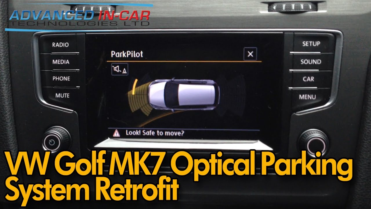 Mk7 Golf R >> Volkswagen MK7 Golf Front and Rear OPS Retrofit - Optical Parking Sensors - YouTube
