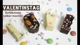 Valentinstag | DIY | Schokolade selber machen | Last - Minute - Geschenk