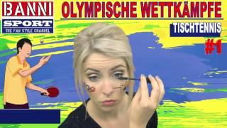 Tischtennis Table Tennis Tenis de Mesa #1 - Olympic Wettkampf - Original Banni Sport Fan Style