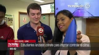 Estudiantes de la UNI lanzarán cohete para intentar controlar el clima