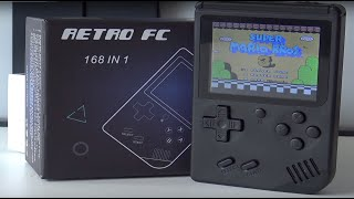 Retro FC  ' 168 in 1 ' Multi Family Computer Game Handheld / Big Screen Bit Boy Clone