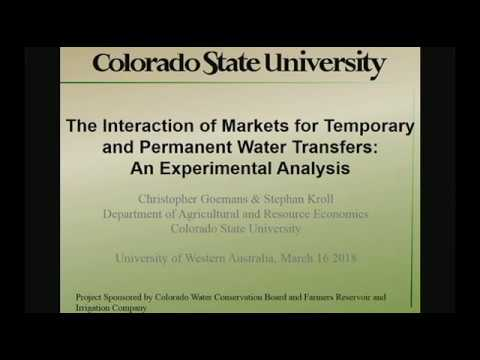 The Interaction of Markets for Temporary and Permanent Water Transfers: An Experimental Analysis