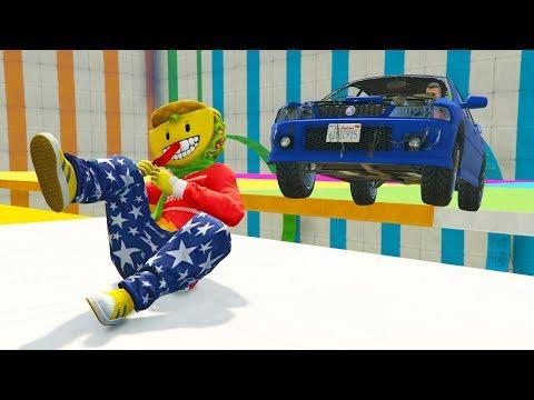 CORRE O TE ATROPELLO! AGACHATE!! - GTA V ONLINE - GTA 5 ONLINE