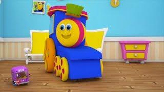 Bob le train | roues dans le bus | bus chanson pour enfants | Preschool Rhymes | Wheels on The Bus