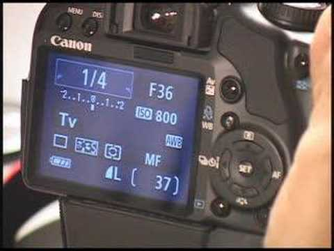 Canon Rebel XSi Shutter & Aperture