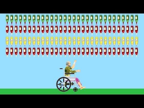 SURVIVE 1000 BOTTLES? (Happy Wheels)