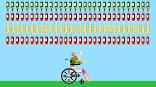 SURVIVE 1000 BOTTLES? (Happy Wheels)