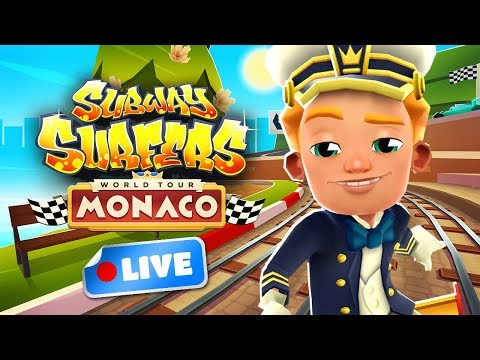🎮 Subway Surfers World Tour 2018 - Monaco Gameplay Livestream - 6th Birthday 🎂