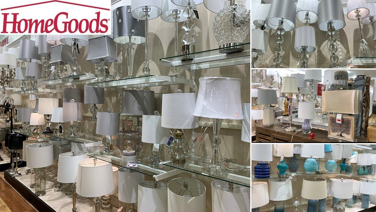 homegoods decorative crystal lamps glam home decor i shop with me may 2019