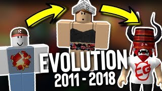 MY ROBLOX AVATAR EVOLUTION! (2011 - 2018)