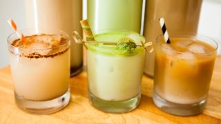 3 FUN ICED, SWEET DRINKS FROM AROUND THE WORLD (HORCHATA, THAI ICED COFFEE, & GREEN TEA SHAKE)